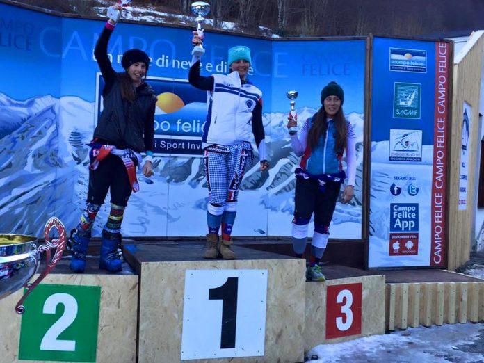 podio_SuperG_F_1_Carolli_2Giordano_3_Romano
