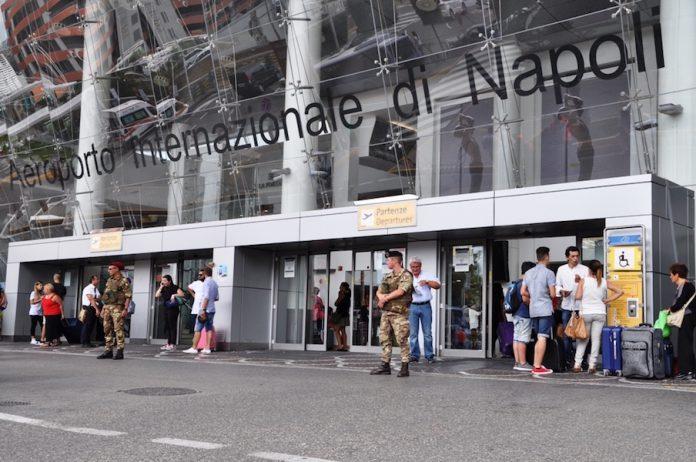 Presidio-ingresso-Aeroporto-di-Napoli-Capodichino