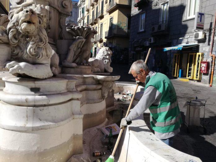 pulizia fontana