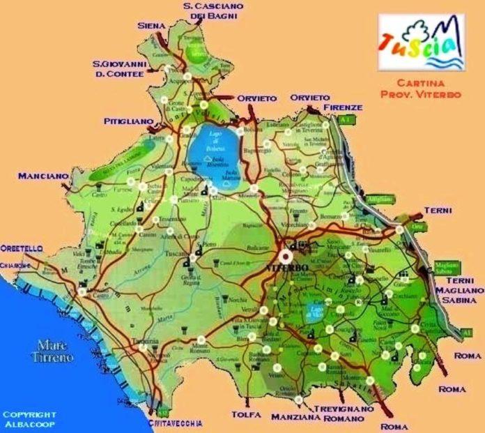 mappa Tuscia