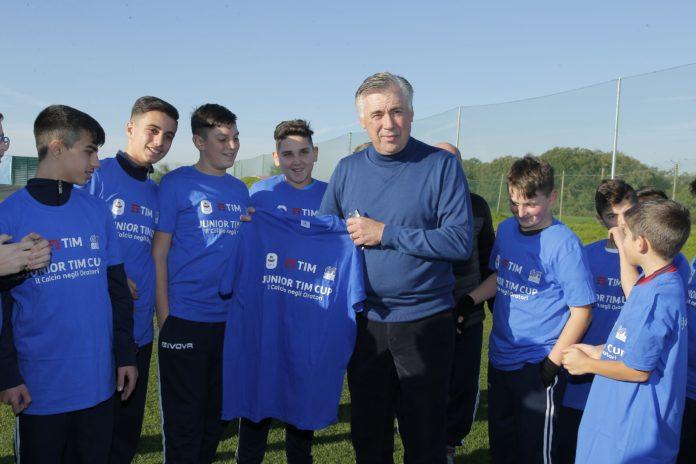 Ancelotti con la Junior TIM Cup 2