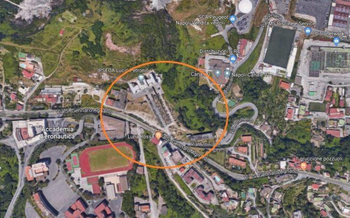 area ex Croce Rossa Pozzuoli x Cittadella alberghiera stato attuale