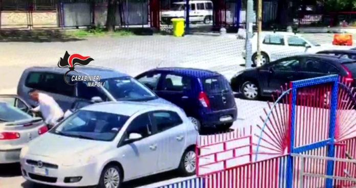 furti su auto pompei